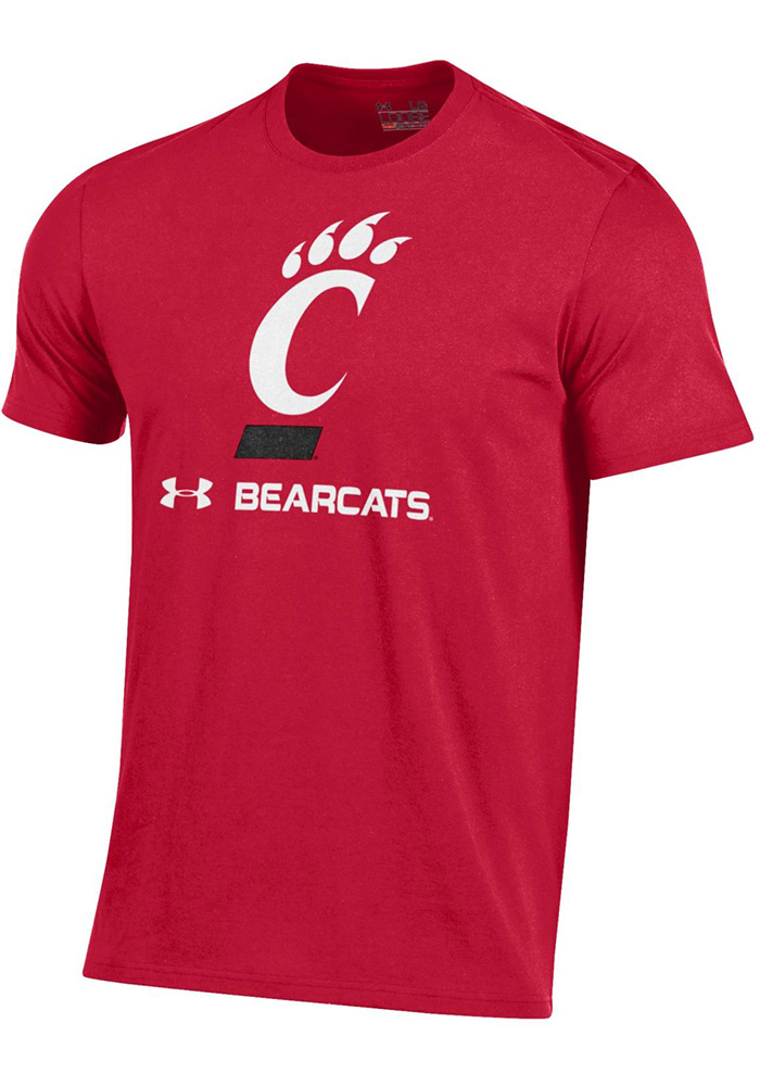 Cincinnati Bearcats Under Armour Charged Cotton T Shirt - Red