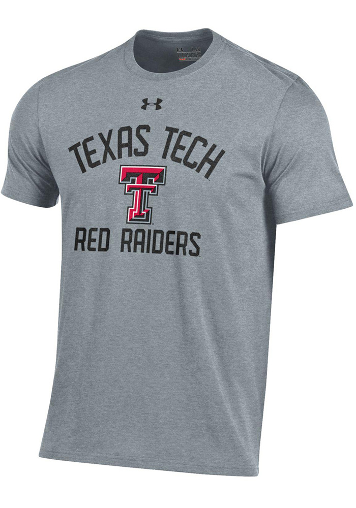 Under Armour Texas Tech Red Raiders Grey Charged Cotton Short Sleeve T Shirt - Image 1
