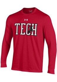 Texas Tech Red Raiders Under Armour Charged Cotton T Shirt - Red