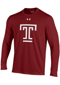 Temple Owls Under Armour Charged Cotton T Shirt - Cardinal