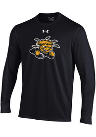 Wichita State Shockers Under Armour Charged Cotton T Shirt - Black