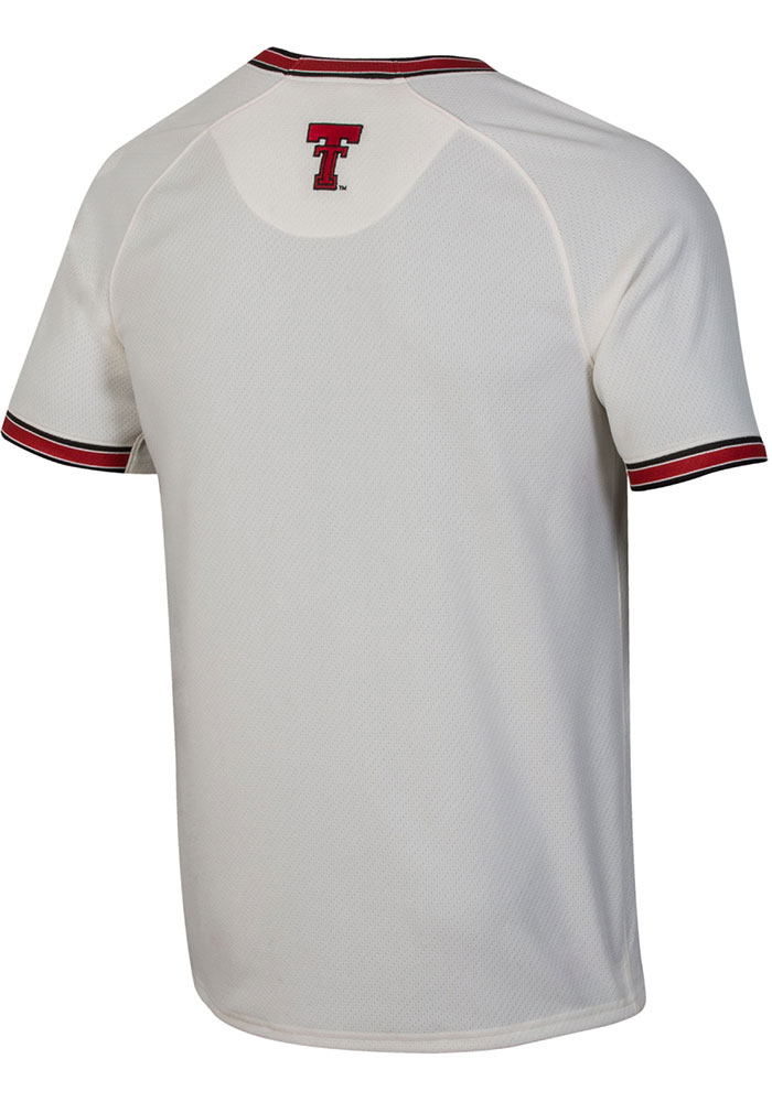Under Armour Texas Tech Red Raiders Mens Ivory Vintage Replica Baseball Jersey - Image 2