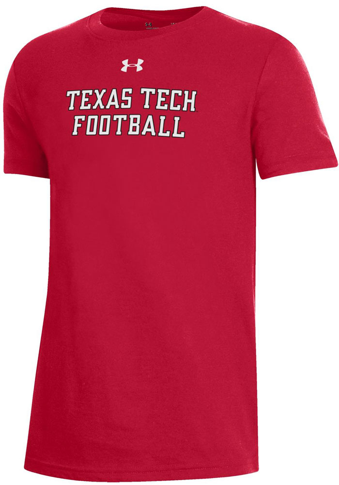 Under Armour Texas Tech Red Raiders Youth Red Mahomes Short Sleeve T-Shirt - Image 2