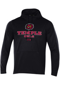 Temple Owls Under Armour Hood Hood - Black