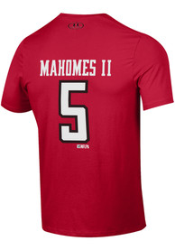 e7e139978 Patrick Mahomes # Texas Tech Red Raiders Red Under Armour Shirzee Tee