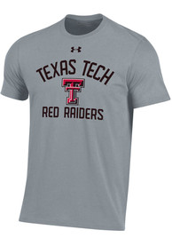 Under Armour Texas Tech Red Raiders Grey Charged Cotton Tee