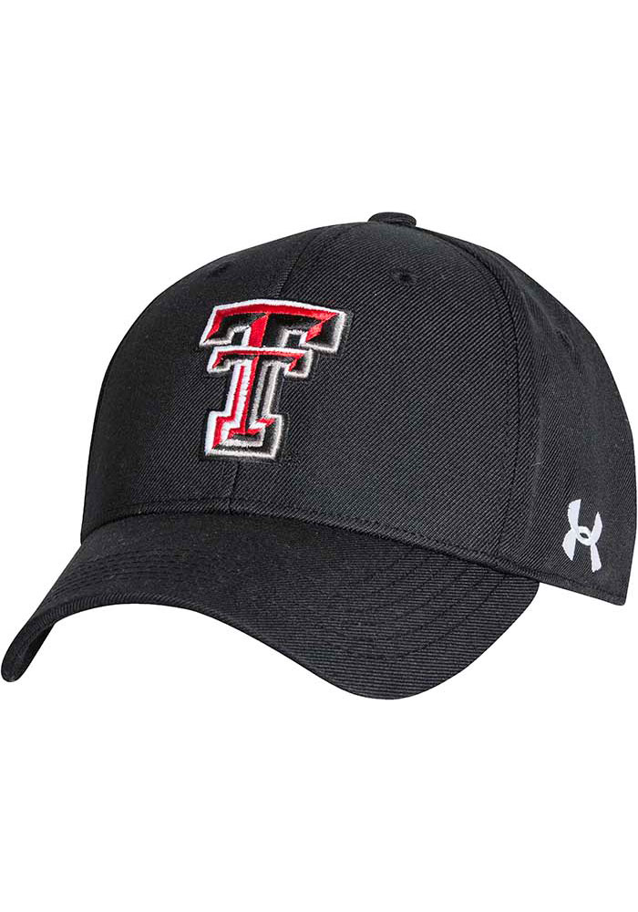 Under Armour Texas Tech Red Raiders OTS Structured Adjustable Hat - Black - Image 1