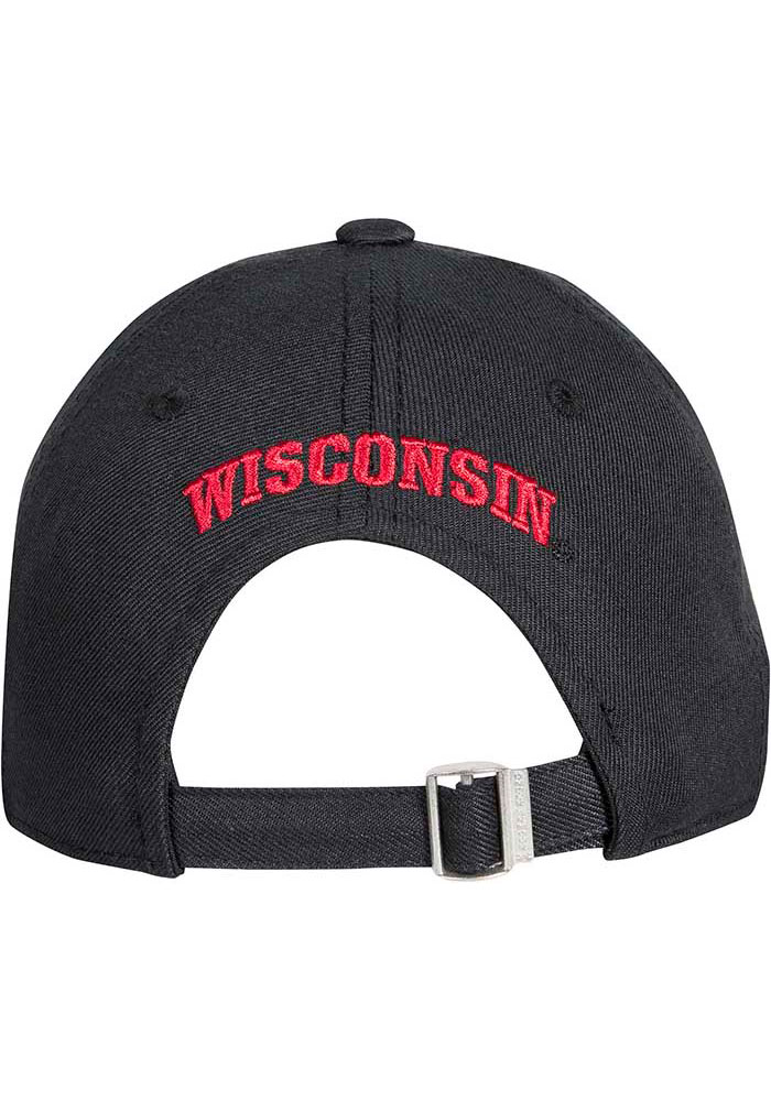Under Armour Wisconsin Badgers OTS Structured Adjustable Hat - Black - Image 2