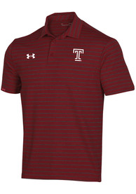 Temple Owls Under Armour F20 Sideline Easy Polo Shirt - Cardinal