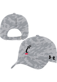 Cincinnati Bearcats Under Armour Sideline Novelty Print Camo Adjustable Hat - Grey