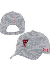 Texas Tech Red Raiders Under Armour Sideline Novelty Print Camo Adjustable Hat - Grey