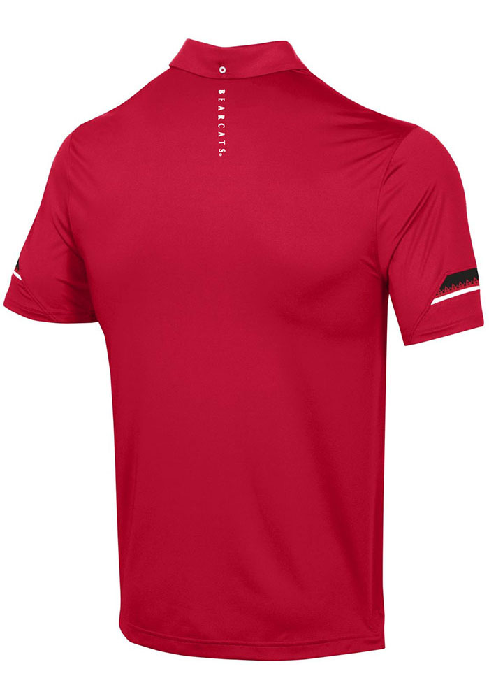 Under Armour Cincinnati Bearcats Mens Red Elevated Short Sleeve Polo - Image 2