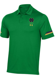 Under Armour Notre Dame Fighting Irish Kelly Green Elevated Short Sleeve Polo Shirt