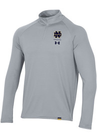 Notre Dame Fighting Irish Under Armour Light 1/4 Zip Pullover - Grey