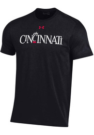 Cincinnati Bearcats Under Armour Vault Wordmark T Shirt - Black