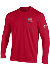 Under Armour Texas Tech Red Raiders Red Military Appreciation Tee