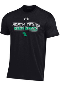 North Texas Mean Green Under Armour Name Mascot Lines T Shirt - Black