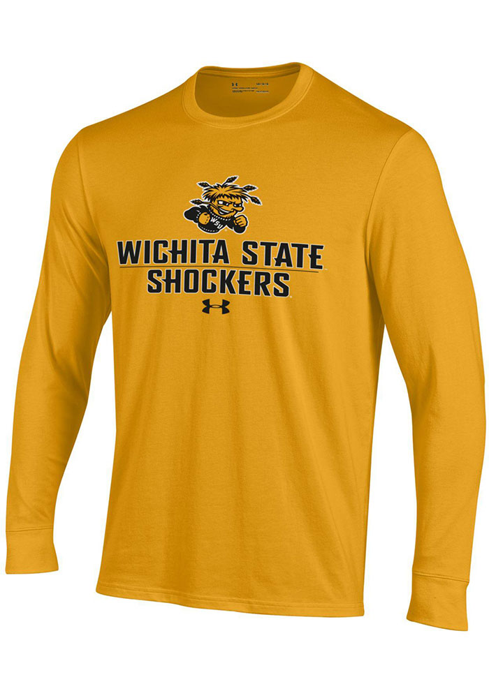 Under Armour Wichita State Shockers Gold Name Drop Long Sleeve T Shirt - Image 1