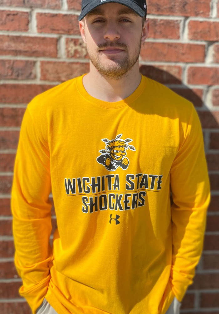Under Armour Wichita State Shockers Gold Name Drop Long Sleeve T Shirt - Image 2
