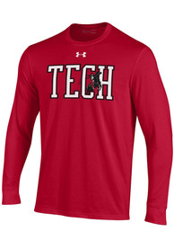 Texas Tech Red Raiders Under Armour Vintage Logo T Shirt - Red