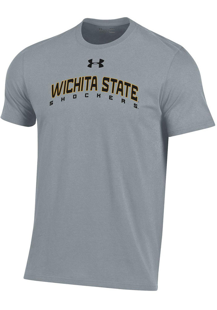 Under Armour Wichita State Shockers Grey Arch Name Short Sleeve T Shirt - Image 1