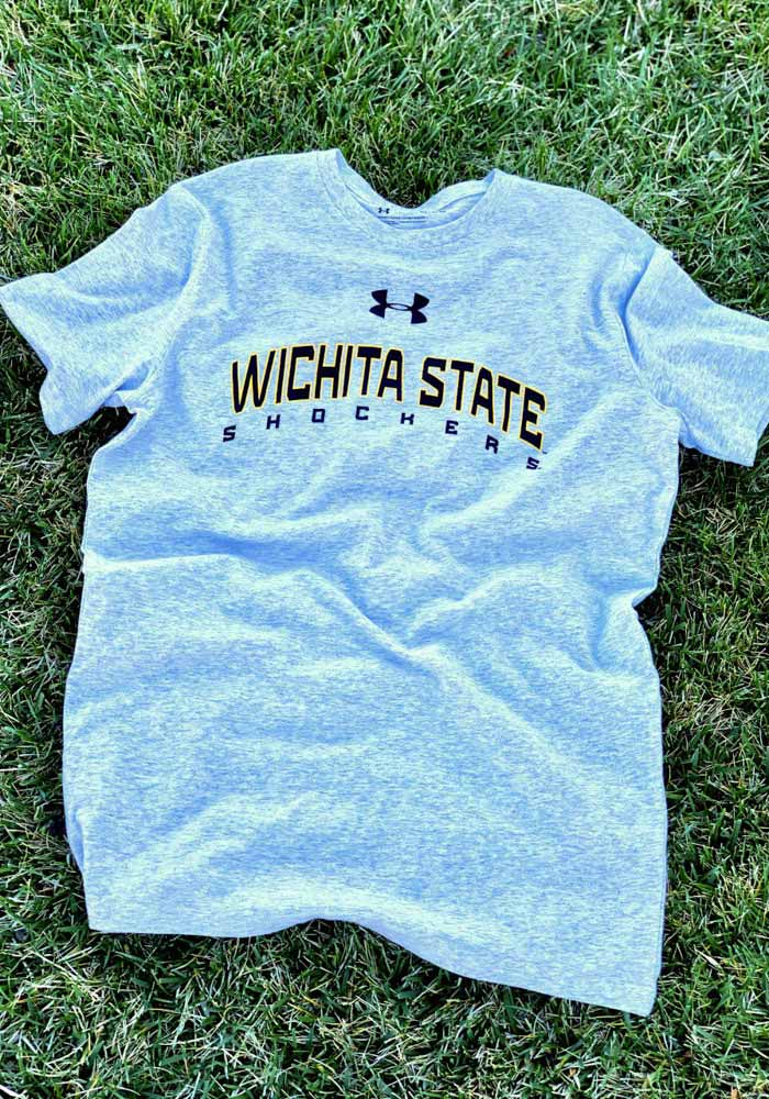 Under Armour Wichita State Shockers Grey Arch Name Short Sleeve T Shirt - Image 2