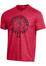 Texas Tech Red Raiders Under Armour Basketball Biblend Fashion T Shirt - Red