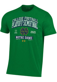 Notre Dame Fighting Irish Under Armour 2020 College Football Playoff Bound T Shirt - Green