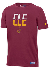 Under Armour Cleveland Cavaliers Youth Red City Abbreviation T-Shirt