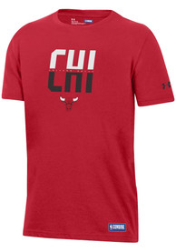 Under Armour Chicago Bulls Youth Red City Abbreviation T-Shirt