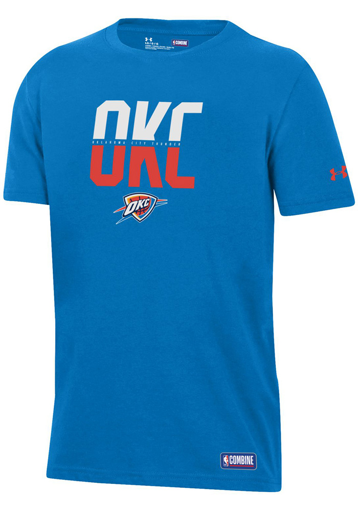 3c648d9b0 Under Armour Oklahoma City Thunder Youth Blue City Abbreviation T-Shirt