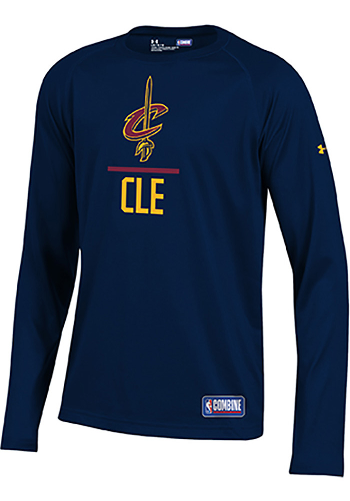 Under Armour Cleveland Cavaliers Youth Navy Blue Lockup Long Sleeve T-Shirt - Image 1