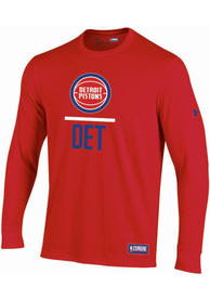 Under Armour Detroit Pistons Red Lockup Tee