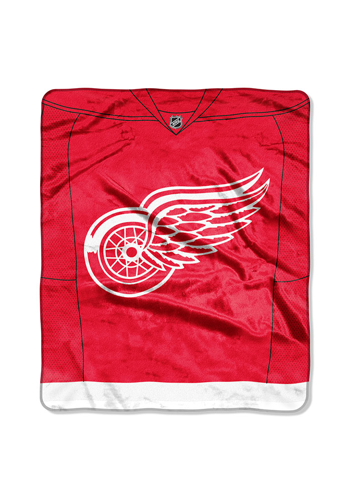 Detroit Red Wings Jersey Raschel Blanket - Image 1
