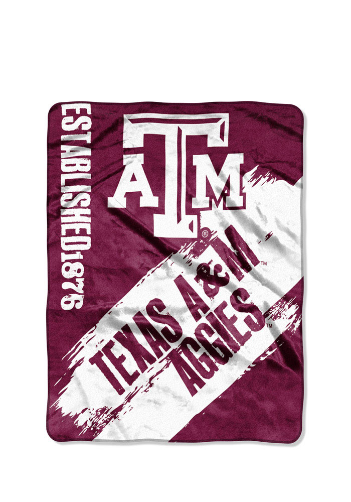 Texas A&M Aggies 50x60 Painted Fleece Blanket - Image 1
