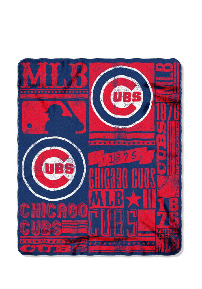 Beau Chicago Cubs 50x60 Strength Fleece Blanket