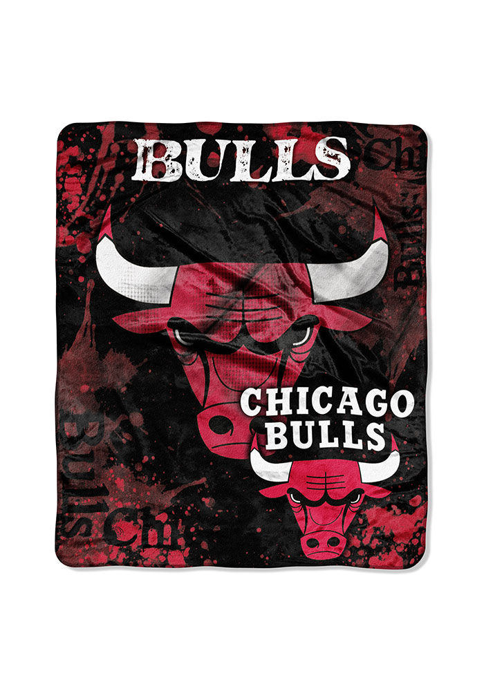 Chicago Bulls 50x60 Dropdown Raschel Blanket - Image 1