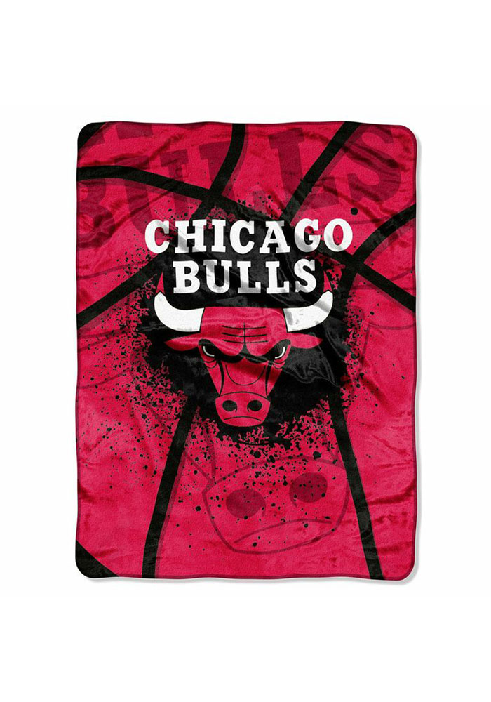 Chicago Bulls 60x80 Shadowplay Raschel Blanket - Image 1