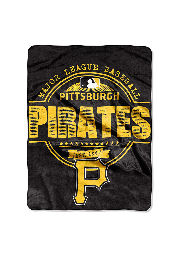 Pittsburgh Pirates 46x60 Structure Raschel Blanket - Image 1