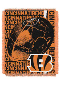 Cincinnati Bengals Double Play Woven Tapestry Blanket