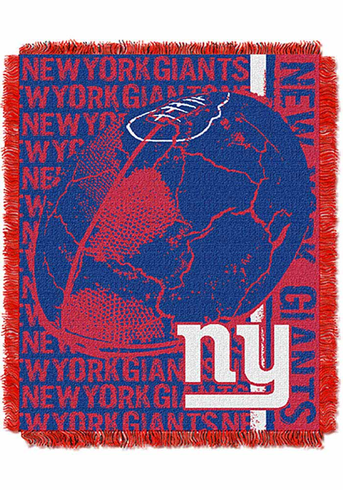 New York Giants 46x60 Double Play Jacquard Tapestry Blanket - Image 1