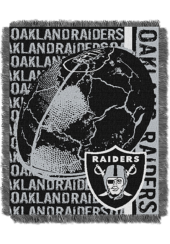 Oakland Raiders 46x60 Double Play Jacquard Tapestry Blanket - Image 1