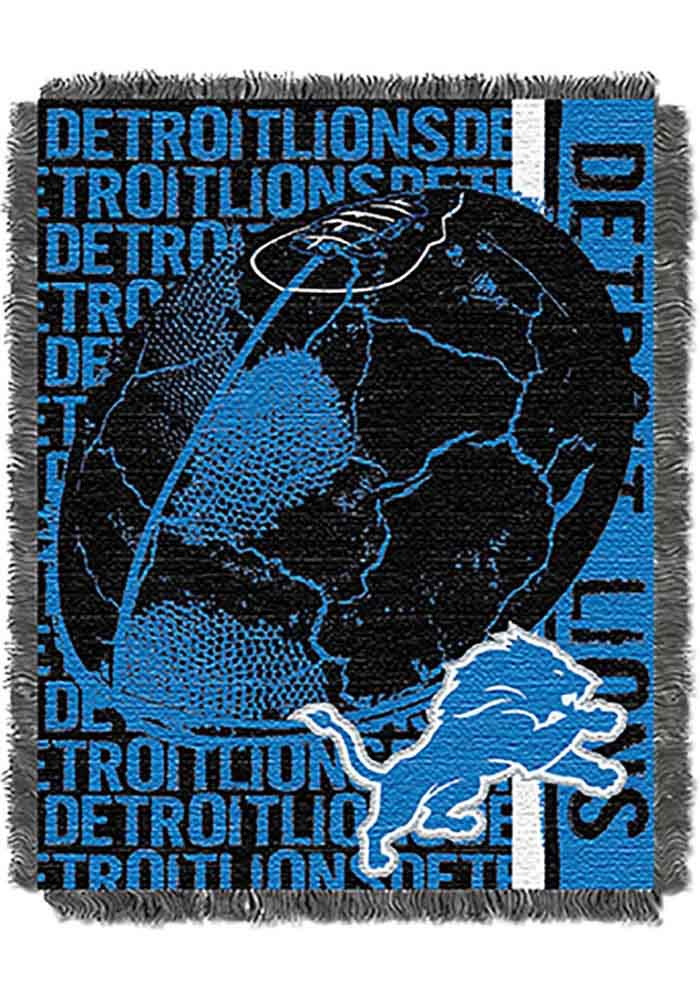 Detroit Lions 46x60 Double Play Jacquard Tapestry Blanket - Image 1