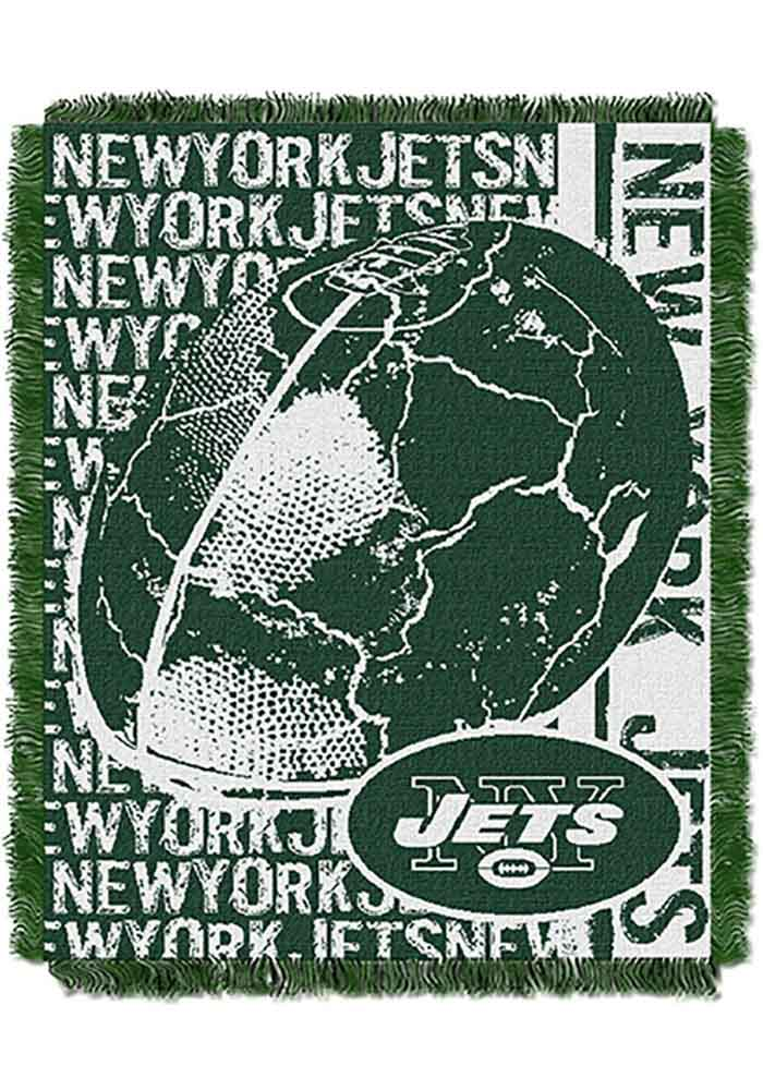 New York Jets 46x60 Double Play Jacquard Tapestry Blanket - Image 1