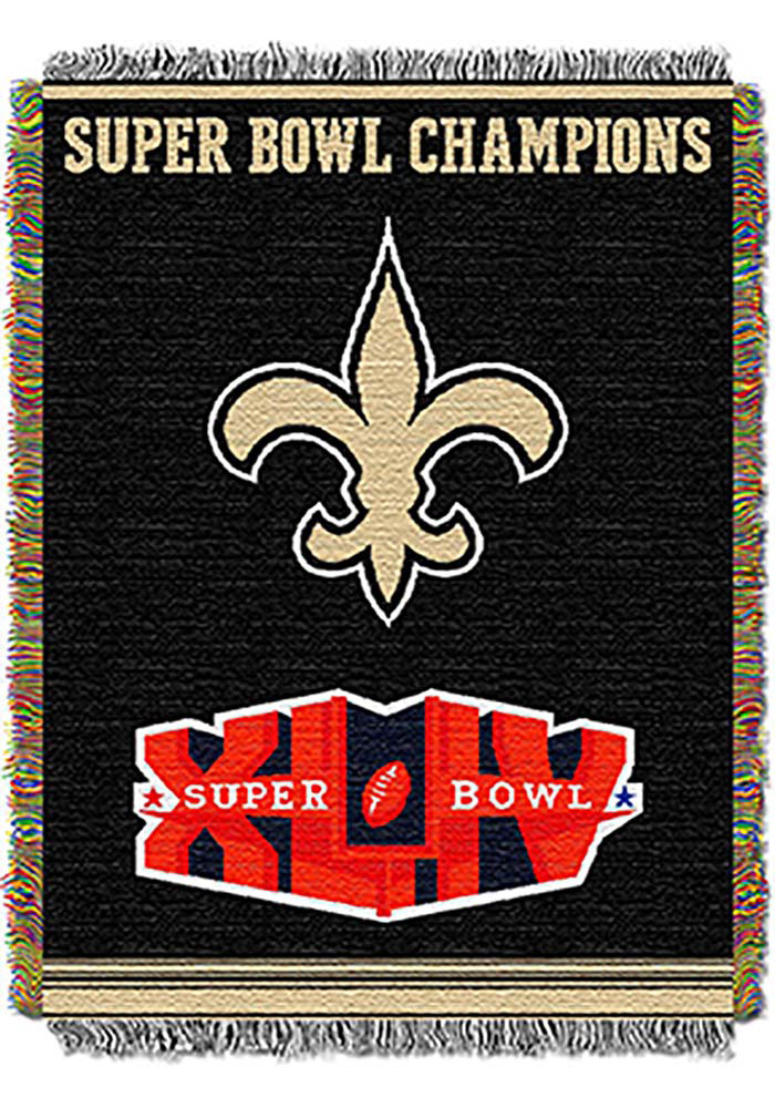New Orleans Saints 48x60 Commemorative Tapestry Blanket - Image 1