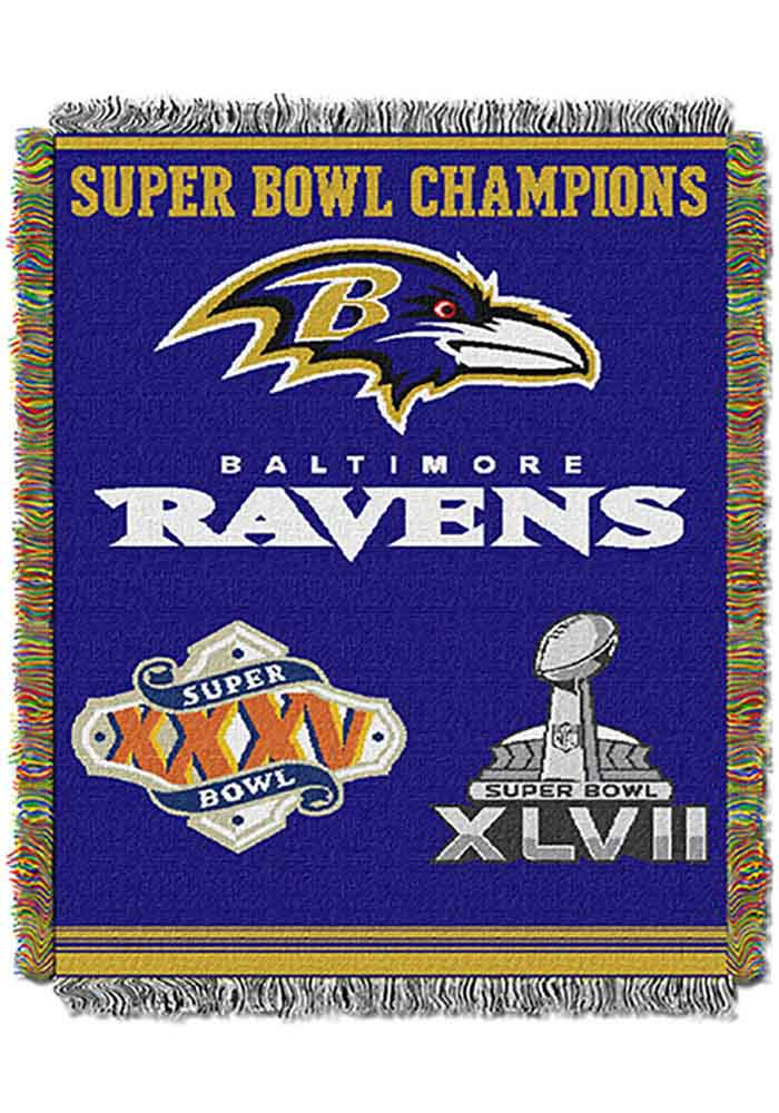 Baltimore Ravens 48x60 Commemorative Tapestry Blanket - Image 1