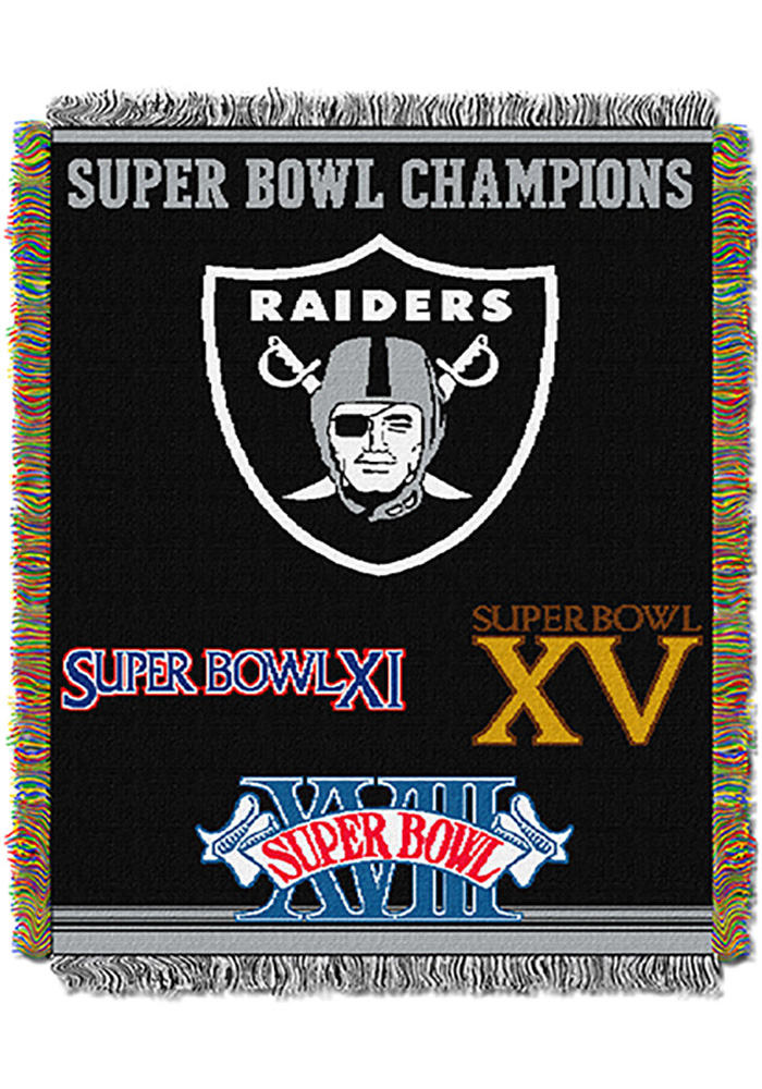 Oakland Raiders 48x60 Commemorative Tapestry Blanket - Image 1