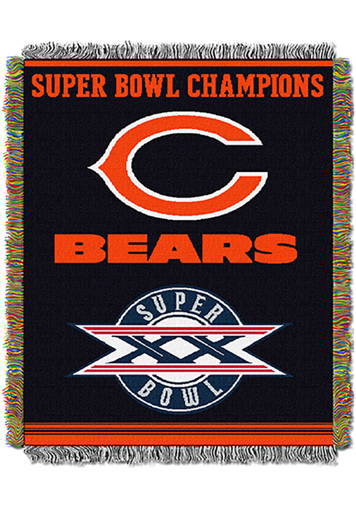 Chicago Bears 48x60 Commemorative Tapestry Blanket - Image 1