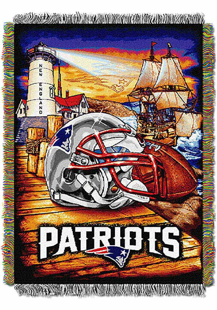 New England Patriots 48x60 Home Field Advantage Tapestry Blanket - Image 1