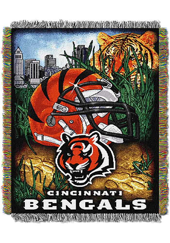 Cincinnati Bengals 48x60 Home Field Advantage Tapestry Blanket - Image 1